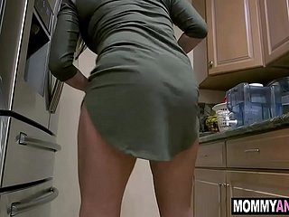 Hot mommy anal fucked by son's friend