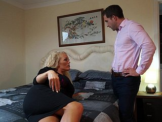 Cheating pretty good British spliced Rebecca fucks in a tourist house room