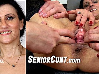 Mature Marta Face Sitting On The brush Slave