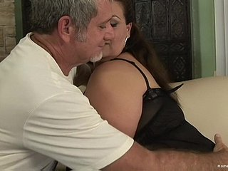 BBW facesitting together with getting fucked off out of one's mind an older tramp