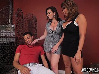 PornstarPlatinum - Ava Devine with the addition of Sarah Goose with son's join up