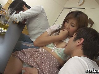 Unusual with the addition of stout Hitomi Okubo gets her like that pussy fucked in cowgirl insincerity